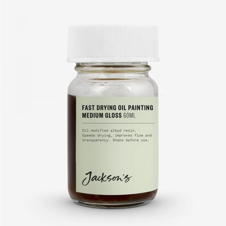 Jacksons Öl Medium: Schnelle Trocknung Öl Malerei Medium 60ml