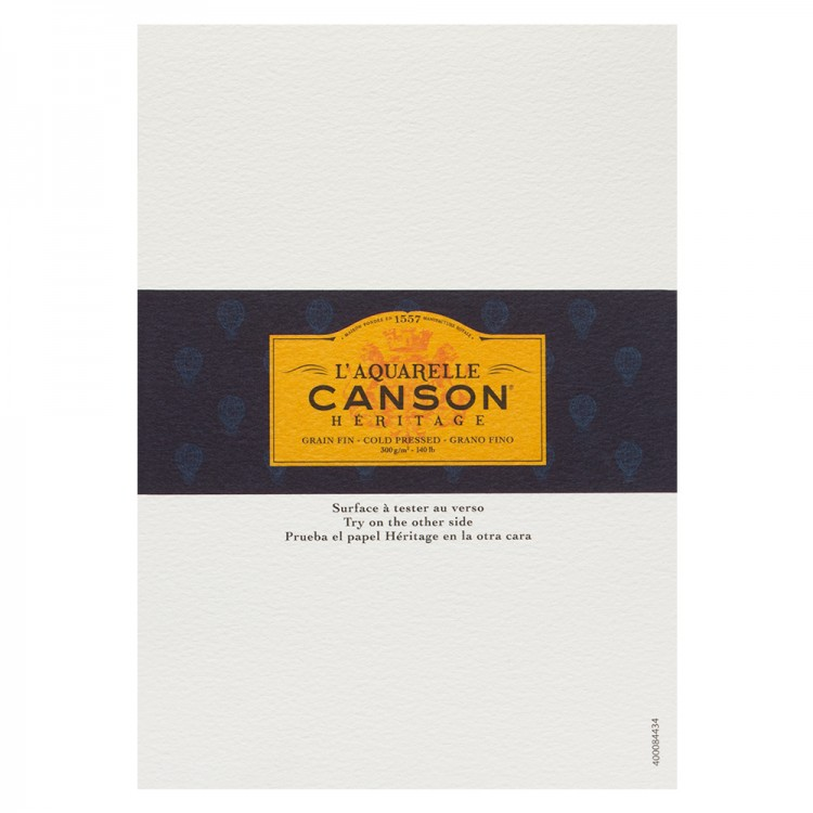 Canson : Heritage : Watercolour Paper : A5 : 300gsm : Cold Pressed : Sample : 1 Per Order