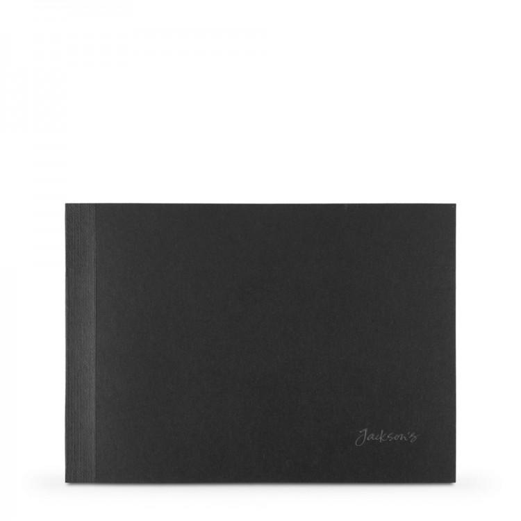 Aquarell-Postkarte-Pad-Schiefer-Blau: Schwarz Band: schwarz blockieren