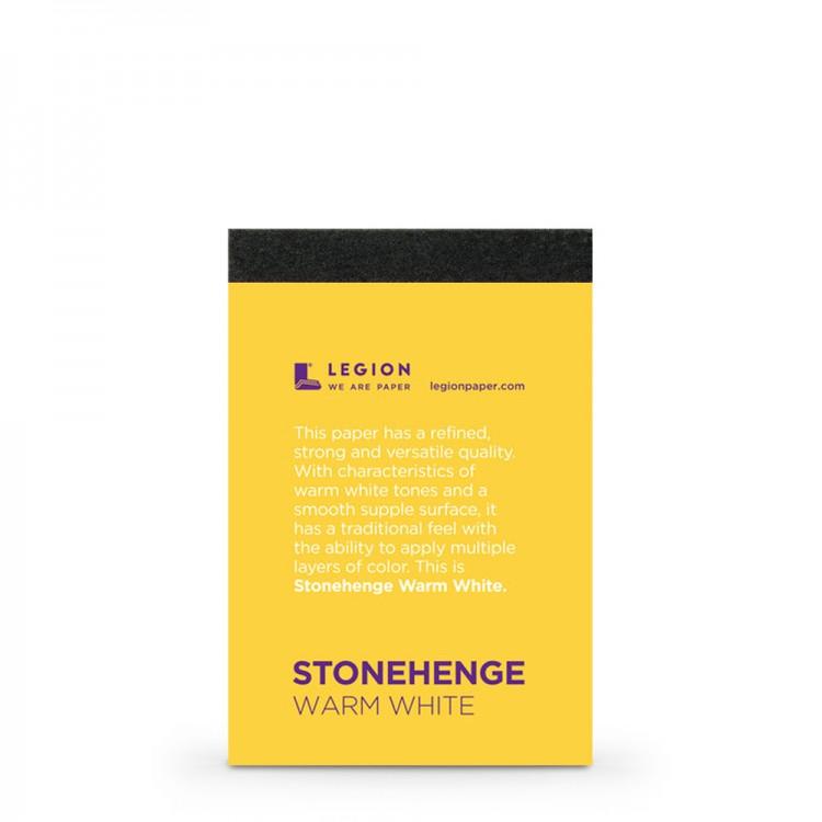 Stonehenge : Warm White Pad : 9.5x6.3cm : Sample : 1 Per Order