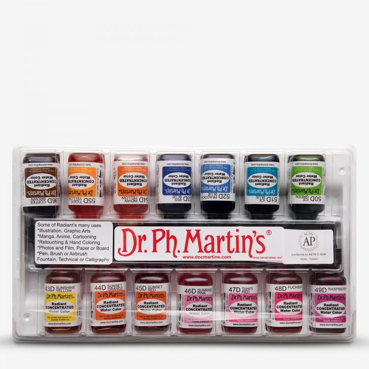 Dr. pH Martins Radiant: SET D (43 bis 56) Aquarell Farbstoff: 15ml