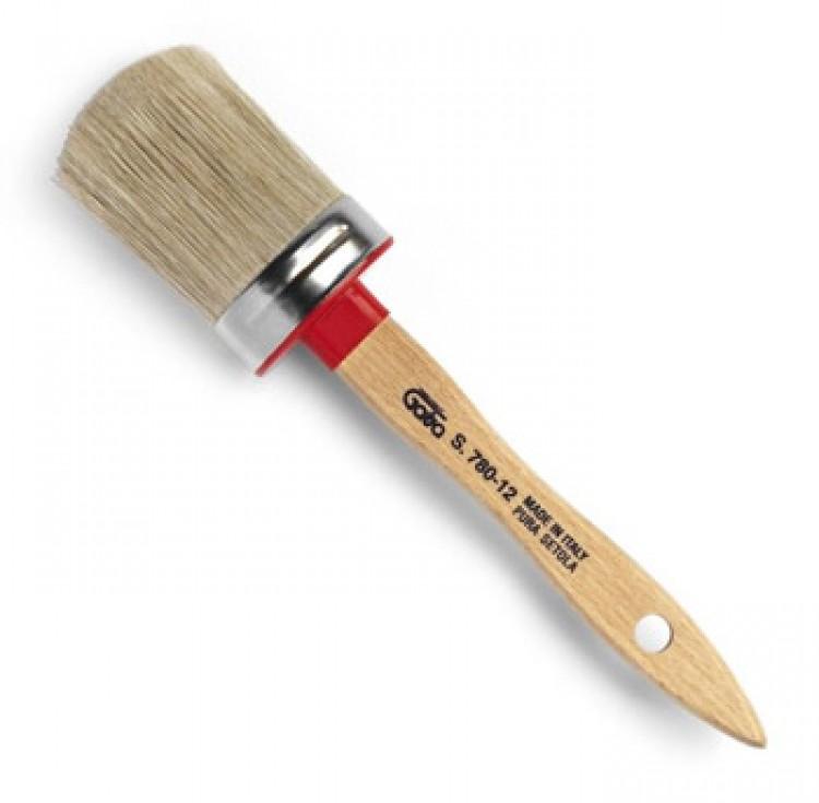 Gava : Lily Bristle/Synthetic Mix : Oval Varnish Brush : # 16 Ferrule 40 x 55 mm