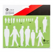 Jakar : Male Human Figure Template (1:20, 1:25, 1:75, 1:100, 1:1.25)