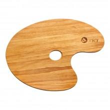 Jakar : Oiled Oval Walnut Palette : 24x35cm
