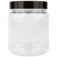 Studio Essentials : Empty Plastic Screw Top Jar : 1000ml