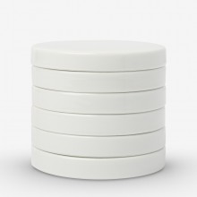Jackson's : Stackable Round Ceramic Palette : 3in (7.5cm) Diameter : Set of 6