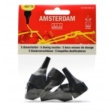 Royal Talens : Amsterdam Standard : Acrylic Paint Dosing Nozzles : Set of 5