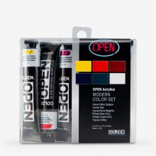 Golden : Open : Slow Drying Acrylic Paint : 22ml : Modern Intro Set of 6