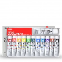 Holbein : Acryla Gouache : 20ml : Master Set of 11 Plus 1 40ml White