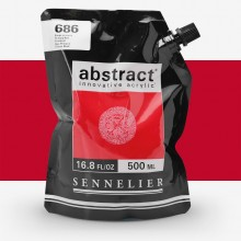 Sennelier : Abstract Acrylic : 500ml : Satin : Primary Red
