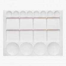 Palette Plastik: großes Rechteck 13 x 10 in.