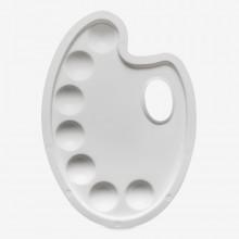 Palette Plastik: Niere 9 x 6,5 Zoll