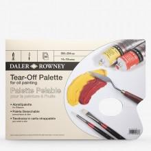 Daler Rowney: Gelbe PERGAMENT Tear Off Palette: 14 x 10-50 Blatt - für Öl