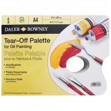 Daler Rowney: Gelbe PERGAMENT Tear Off Palette: A4 - 50 Blatt - für Öl