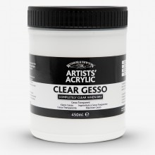 Winsor & Newton : Professional : Acrylic Medium : Clear Gesso Primer : 450ml