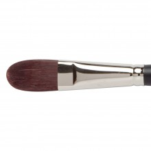 No. 12 Filbert Jacksons SHINKU dunkel rot synthetische Haarbürste