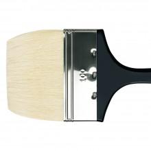 Da Vinci: Behandelt lange flache Borste Pinsel 390mm Serie 7055 Grösse 100mm