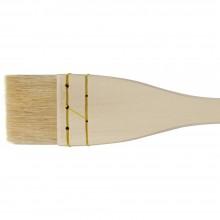 Jacksons: Künstler Seehecht weiße Ziege Haar flach 45mm (1 3/4 Zoll)
