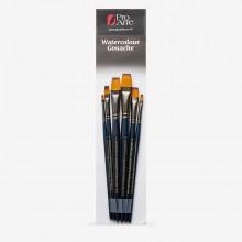 Pro Arte : Mastertouch : Aquamarine : Flat  : Watercolour & Gouache Brush Set