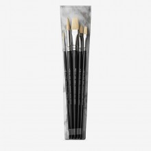 Pro Arte : Studio Hog : Brush Wallet Set : 2-8 Rnd 6-10 Flat & 4 Fb