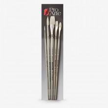 Pro Arte : Bristlene : Series D : Synthetic Oil & Acrylic Brush : Set of 5