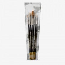 Pro Arte : Prolene Brush Wallet Set : 1357 Rnd & 3/8 Flat