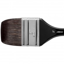Silver Brush : Black Velvet : Squirrel & Risslon Brush : Series 3014S : Wide Wash Blender : Size 2in