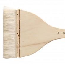 Silver Brush : Atelier Hake : Long Handle : Flat : Size 70 : 120mm Wide