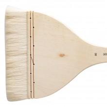 Silver Brush : Atelier Hake : Long Handle : Flat : Size 80 : 135mm Wide