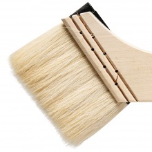 Silver Brush : Atelier Hake : Long Handle : Angle : Size 30 : 75mm Wide