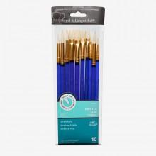 Royal & Langnickel : Acrylic & Oil White Bristle Value Brush Pack