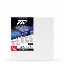 Daler Rowney : FW : Keilrahmen für Mischtechnik : 12x12 Zoll : 4 Stück