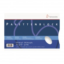 Hahnemühle: Tear Off Palette für Öl oder Acryl 24x35cm: 30 Blatt