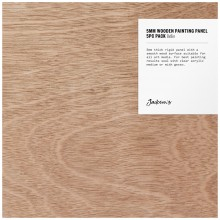 Jackson's : 5mm Wooden Painting Panel : 8x8in : Pack of 5