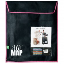 Biyomap : Reusable Artwork Shipping and Storage Bag : 50x60cm (Pink)