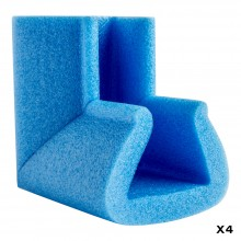 Biyomap : Biyosafe : Foam Corner Protector : Sides 100mm Long : 45x60mm : Set of 4