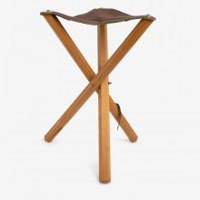 Jullian : Folding Stool With Leather Seat