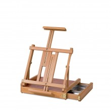 Jullian : Table Deluxe Easel With Drawer : Beechwood : With Strap & Bag