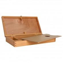 Hölzerne Utility Storage Box (leer): Buchenholz 32 x 17 x 4 cm