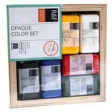 R & F Enkaustik (Wachs Paint) undurchsichtige Farbe SET