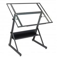 Studio Designs : Solano Drafting Table : Matt Charcoal Black