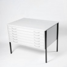 Vistaplan : Wooden Economy Planchest : 6 Drawer A1 : Grey : UK Only
