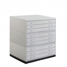 Vistaplan : Wooden Traditional Planchest : 9 Drawer A1 : Grey : UK Only