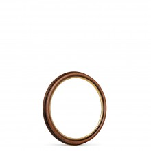 Jackson's : Ready-Made Obeche Wood Circular Frame : 20x20cm : Antique Walnut / Gold