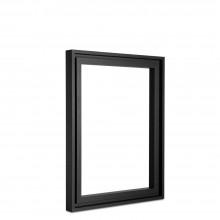 Jackson's : Black Ayous Frame for Panels 12x16in : 8mm Rebate : 9mm Face