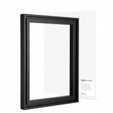 Jackson's : Black Ready Made Ayous Frame and 12x16in Panel Set