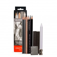 Caran d'Ache : Multi-Techniques : Metal Sketching Set of 11