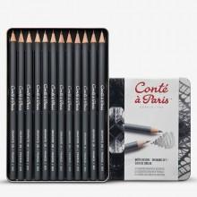 Conte ein Paris-Graphit Bleistift Zeichnung Set