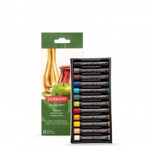 Derwent: Akademie Öl Pastellkreide 12 Box