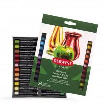 Derwent: Akademie Öl Pastellkreide 24 Box